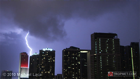 Labor Day Lightning - Miami, Florida